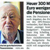 Pensionenbudget zu hoch