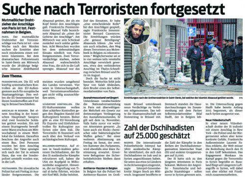 VN-Bericht vom Freitag, dem 20. November 2015.