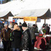 Adventmarkt in Lingenau sorgt für Sperre