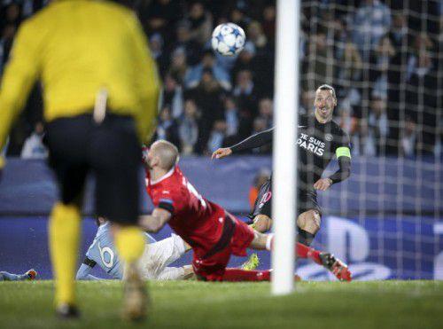 Zlatan Ibrahimovic erzielte in Malmö einen Treffer und finanzierte zudem das Public Viewing in der schwedischen Stadt.