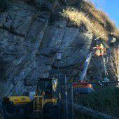 Felssicherung für Spazierweg in Feldkirch