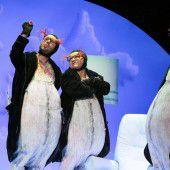 Drei Pinguine auf großer Reise