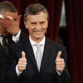 Macri schwört den Amtseid in Buenos Aires