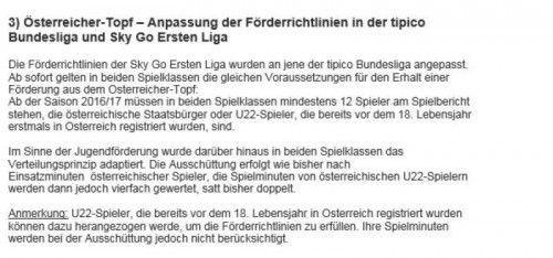 Die neue Beschluss in Sachen Ausländer-Reglementierung Erste Liga.