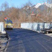 Neue Radwegbrücke an der Ill in Bludenz fertig