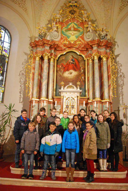 Die Schüler haben sich intensiv mit den Religionenbeschäftigt.