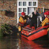 England kämpft mit Hochwasser