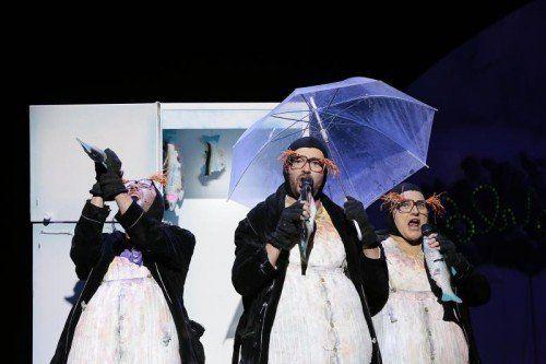 """""""An der Arche um acht"""" des Vorarlberger Landestheaters wurde zur österreichweit besten Kindertheaterproduktion gekürt. Foto: LT/Köhler"""