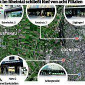 Rheintal-Raiba schließt fünf von acht Filialen
