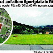 Röthis: Wohnquartier auf altem Sportplatz