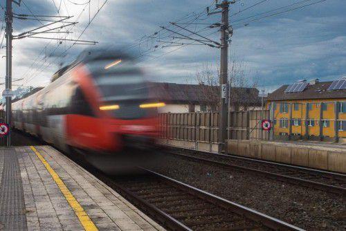 Der Zug fährt weiterhin nur eingeschränkt von Vorarlberg über Liechtenstein nach Vaduz. VN/Steurer