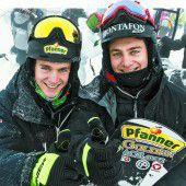 Winterliche Verhältnisse für Snowboarder am Hochjoch