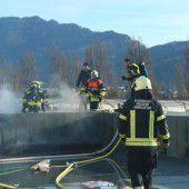 Brandalarm auf Baustelle in Bregenz
