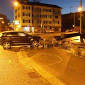 Unfall mit 1,8 Promille intus