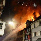 Thurgauer Altstadt in Flammen
