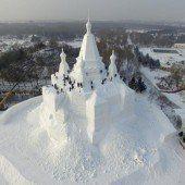Ein weißes Schloss nur aus Schnee