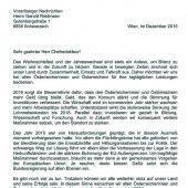 Heinz Fischer wünscht VN-Lesern frohes Fest