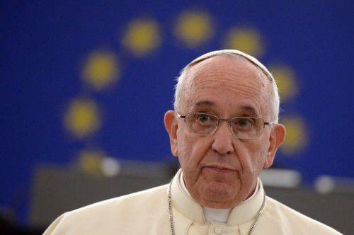 Franziskus wird für seine Verdienste für Europa geehrt.