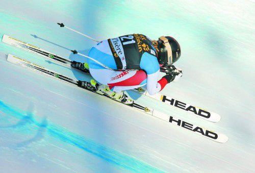 In der Abfahrt ist Lara Gut zu Hause, aber die Schweizerin legte die Basis für den Sieg mit dem Slalom.