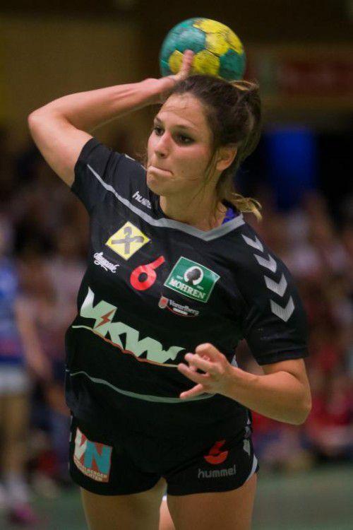 Johanna Rauch erzielte die letzten beiden SSV-Tore beim Arbeitssieg in Korneuburg. steurer