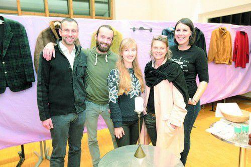 "Jugendseelsorger Dominik Toplek, Johannes Lampert, Poetry-Slammerin Sophia Juen, Reh Eggler (Kleiderzirkus) und Katharina Lenz (""Freigeist"")."