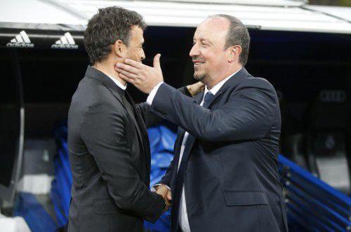 Luis Enrique (l.) entscheidet selbst, Reals Rafa Benítez muss hoffen.
