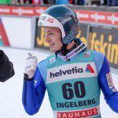 Hayböck in Engelberg nur von Peter Prevc geschlagen