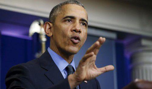 Obama hielt seine traditionelle Pressekonferenz.