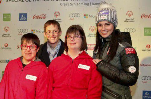 """Audi und Markenbotschafterin Anna Fenninger unterstützen die Special Olympics World Winter Games. Diese Woche fanden die Pre-Games statt. Fenninger: """"Die Begeisterung der Sportler ist beeindruckend."""""""