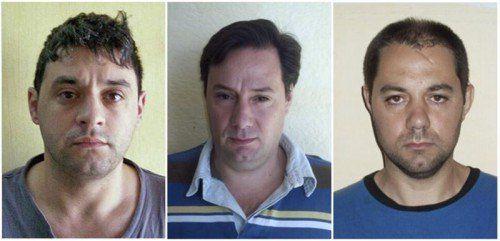 Auf der Flucht: Victor Schillaci, Martin Lanatta und Cristian Lanatta.