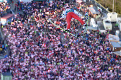 Auf Stefan Kraft ruhen Österreichs Hoffnungen bei der Skiflug-WM in Bad Mitterndorf.