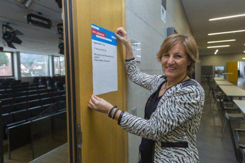 Beim Veranstaltungsmanagement der FHV kann Hannelore Nagel ihrOrganisationstalent ausleben.