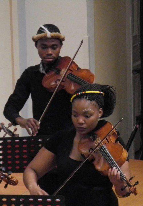 Bochabela-String-Musiker überzeugten im Konservatorium.