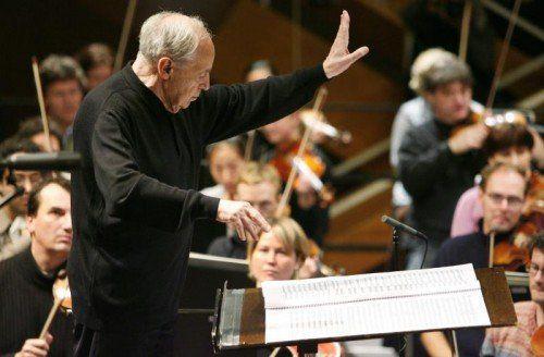 Boulez mit dem SWR-Orchester in Donaueschingen.