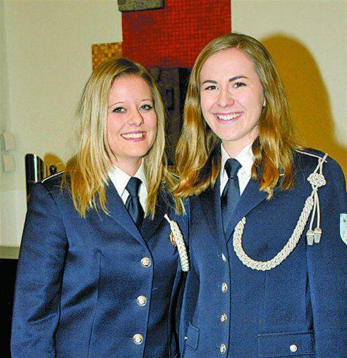 Carina Zengerle (l.) und Christina Metzler (BM Lauterach).