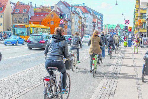 Das Fahrrad ist das beliebteste Fortbewegungsmittel der Kopenhagener.