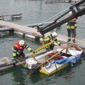 Zu viel Wasser von oben: Boot ging unter