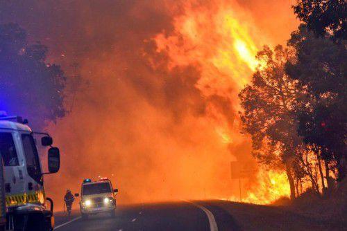 Der Brand wurde durch einen Blitzeinschlag entfacht. Durch starke Winde breiteten sich die Flammen rasch aus.