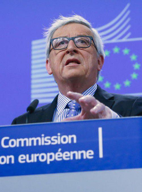 Der Kommissionspräsident wählte in seiner Pressekonferenz in Brüssel deutliche Worte.