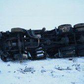 Unfall mit Militär-Lkw