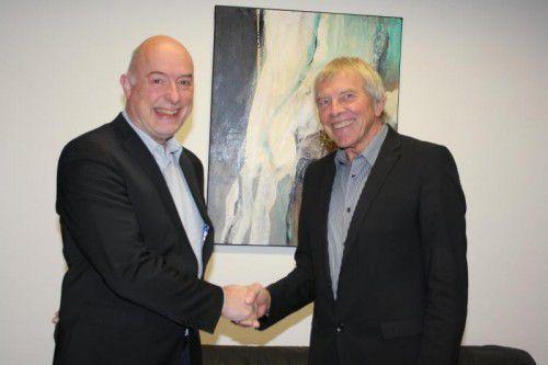 Der neue Direktor Ariel Lang (l.) mit Reinhold Rinner.