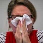 Die Grippe geht es langsam an