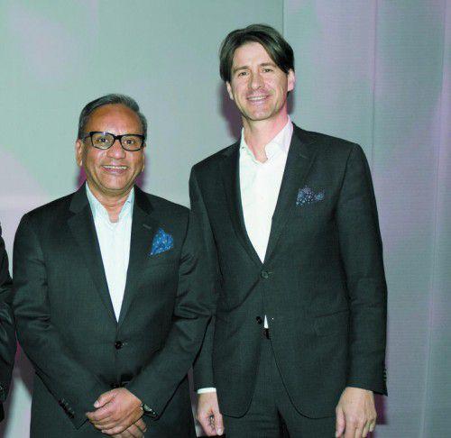 Die beiden Vorstände der Wolford AG, Ashish Sensarma (CEO) und Axel Dreher (CFO), v.l.