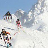 Das Skirennen Weißer Ring wird zu einer Schussfahrt