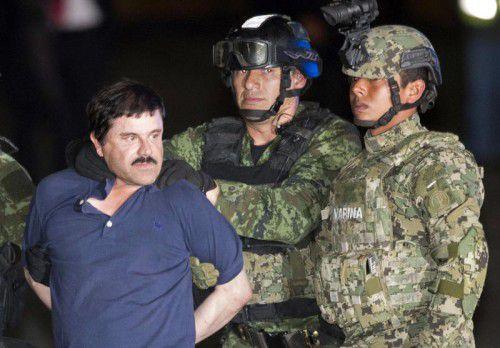 """""""El Chapo"""" nach seiner erneuten Festnahme am vergangenen Freitag. Er soll an die USA ausgeliefert werden."""