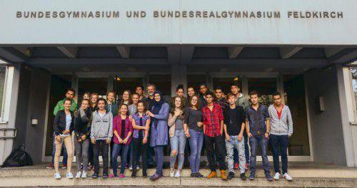 Erstes Kennenlern-Treffen am BG Feldkirch, Rebberggasse.
