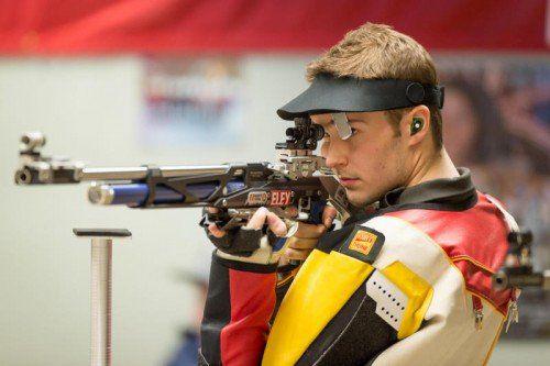 Schütze Thomas Mathis startet mit dem Weltcup in Thailand sein Unterfangen, sich für Olympia 2016 in Rio zu empfehlen.