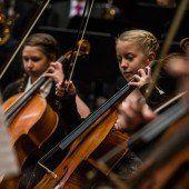 Junge Musiker sorgten für einen besonders klangvollen Jahreswechsel