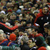 Viele Emotionen und ein begeisterter Reds-Trainer Jürgen Klopp