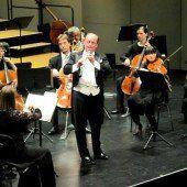Oboist an der Orchesterspitze